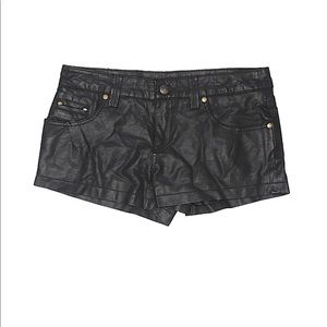 Free People Faux Leather Low Rise Shorts Size 0